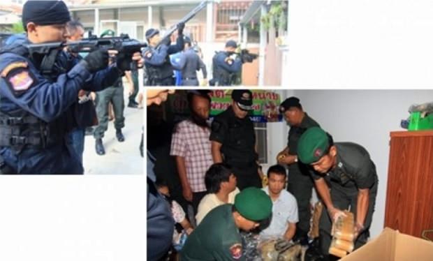 Die Polizisten landen einen Schlag gegen Drogenhändler.