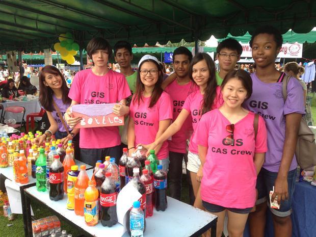 Die Garden International Schüler machen viel für die Wohltätigkeit.