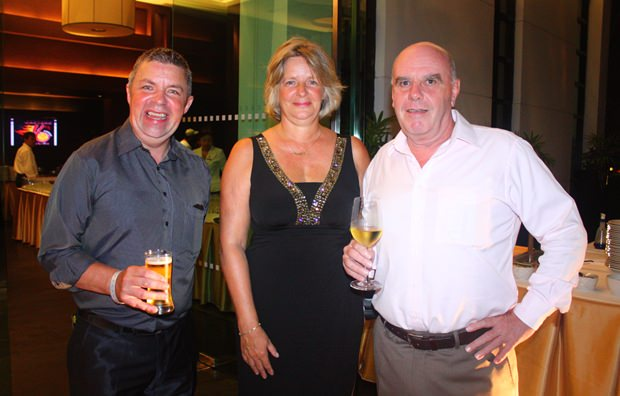 (Von links) Paul Strachan, Bea Grunwell und Joe Grunwell.