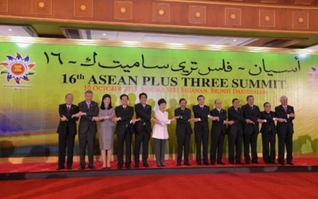 Die Teilnehmer des 16. ASEAN+3 Summit.