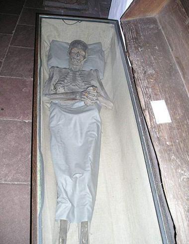 Eine Mumie aus dem Bremer Bleikeller.