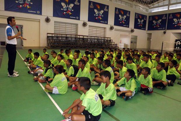 Die 200 Teilnehmer der Sportveranstaltung.