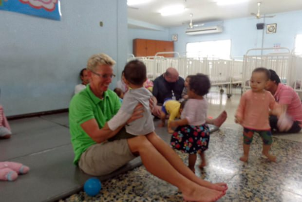 Diana Buben-Brüggemann findet immer Zeit zum Spielen mit den Kindern.