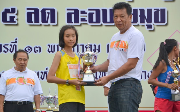 Die junge Kanchanaporn Aonputta, 18, siegte bei den Damen.