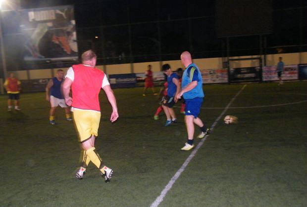 Die Spieler beim Training.