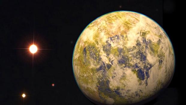 Eine grafische Darstellung von Gliese 832c