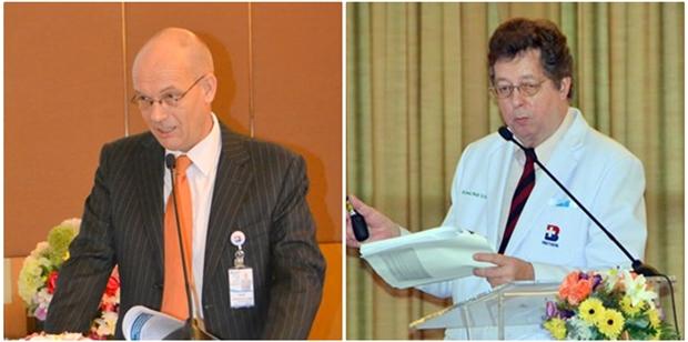 Frank van Oort und Dr. Wulf Heisler.