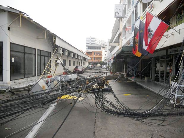 Disaster in der Soi Yensabai.