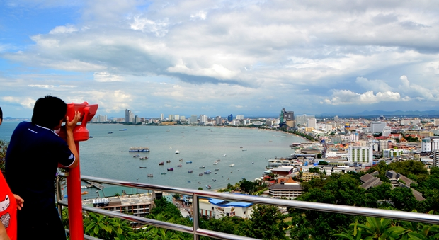 Blick auf Pattaya.