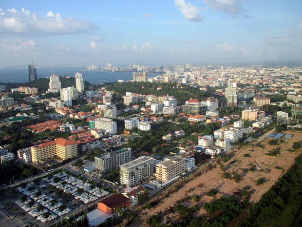 Blick über Pattaya vom Pattaya Park Tower aus.