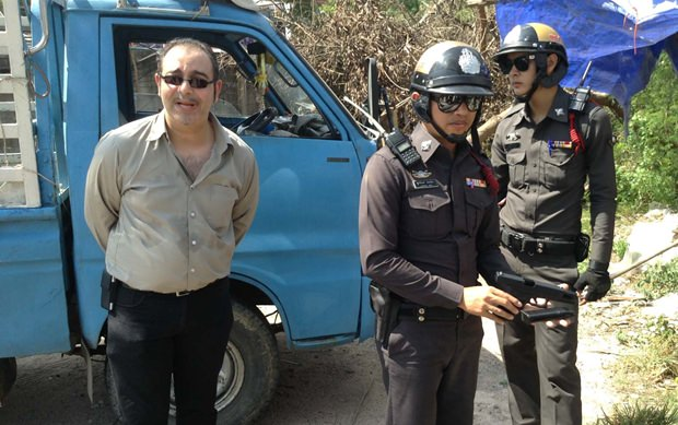 Stefan Guth bei seiner Verhaftung.