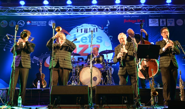 Die Dutch Swing College Band in Aktion.