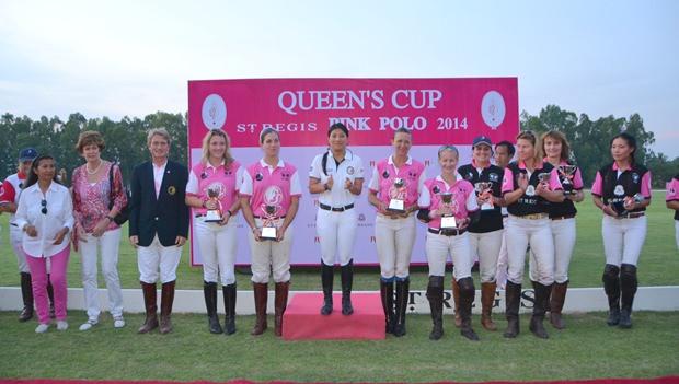 Die Prinzessin posiert mit den drei Teams nach dem spannenden Wettkampf.