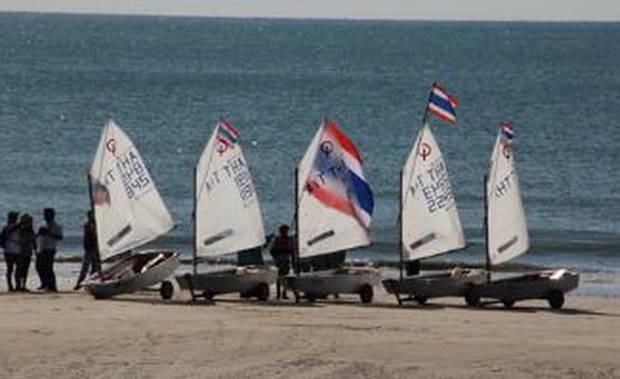 Die Gulf Regatta: Jugend, Optimist-Klasse.