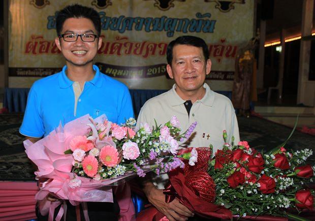Die neuen Priester der katholischen Gemeinde Pattaya sind Vater John Babtiste Nuphan Tassamalee (links) und Pastor Peter Suraporn Suwichakon.