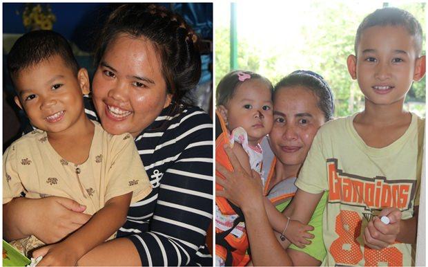 Mütter freuen sich mit ihren Kindern zusammen zu sein.