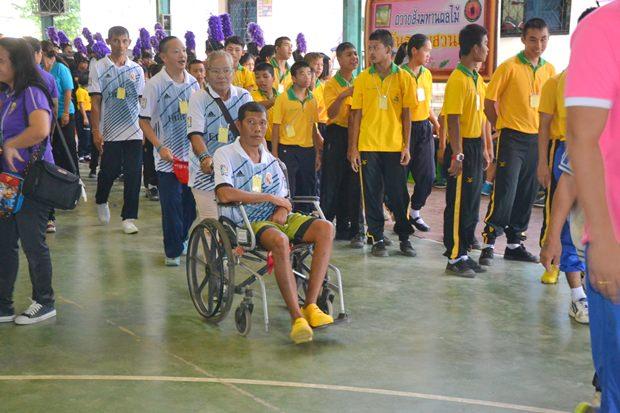 365 behinderte Kinder aus 16 Schulen in Ostthailand nehmen an den BEwerben teil.