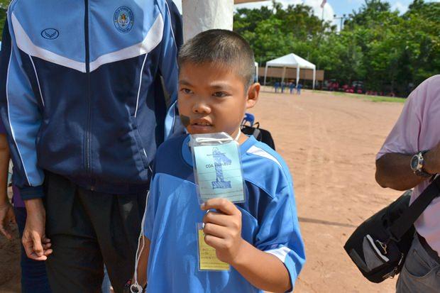Sompop Kijbamrung lief in seiner Altersgruppe von 8-11 Jahren die 50-Meter Strecke am schnellsten.