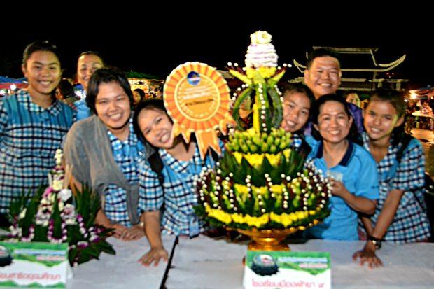 Die Schule Nr, 9 gewann in diesem Jahr den Preis für den schönsten Krathong.