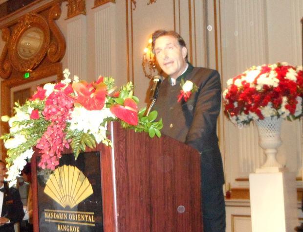 Der österreichische Botschafter Mag. Enno Drofenik bei seiner Ansprache zu Beginn des Festes.