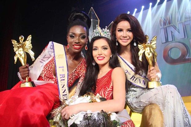 Die drei schönsten Transgender Mädels der Welt: (von links) Valesca Dominik Ferraz, Trixie Maristela und Sopida Siriwattananukoon.