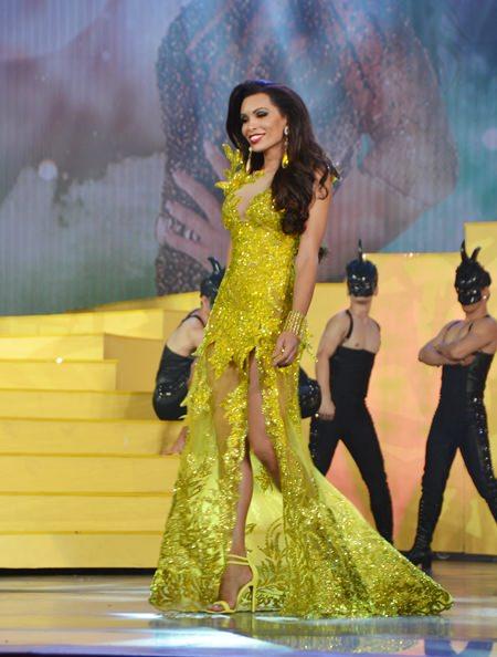 Das schönste Abendkleid trug Nicole Fontanelli aus Italien.