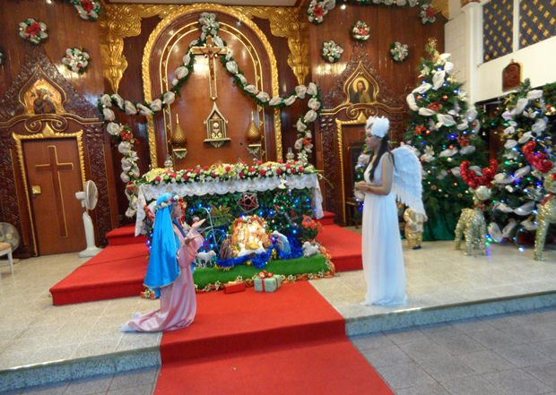 Maria Verkündigung durch Erzengel Gabriel.