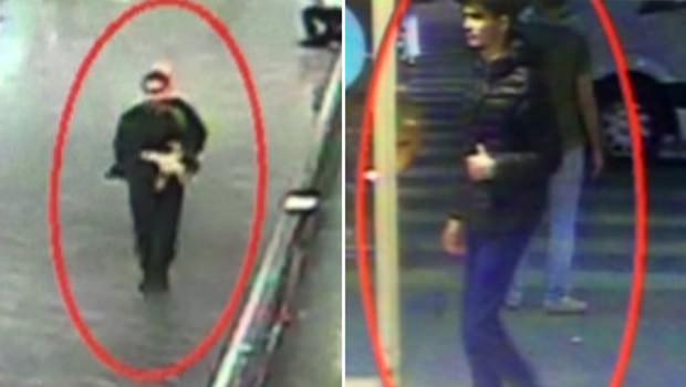 Fotos von Überwachungskameras zeigen zwei der mutmaßlichen Attentäter.
