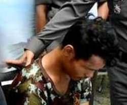 Der Vergewaltiger des Kleinkindes nach seiner Verhaftung.