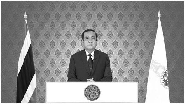 Der Ministerpräsident verkündet im Fernsehen den Tod Seiner Majestät.