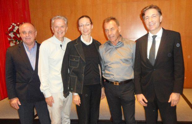 (Von links) Erich Erber, Folke Tegethoff, TAS-Generalsekretärin Caroline Braunshofer, TAS Präsident Gottfried Auer und der österreichische Botschafter Enno Drofenik.