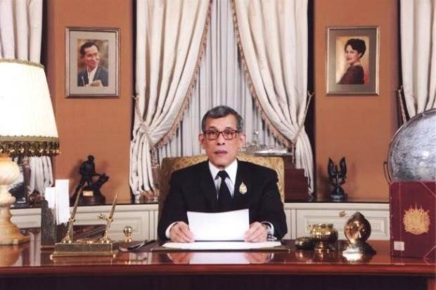 Seine Majestät Maha Vajiralongkorn Bodindradebayavarangkun hält seine erste Neujahrsansprache als König