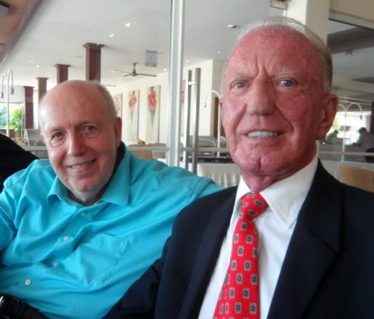 Seit vielen Jahren gute Freunde: (von links) Reiner Calmund und Gerrit Niehaus.