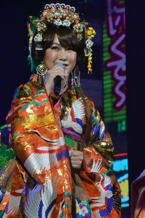 Die Japanerin Haruna Ai bei ihrem Auftritt.