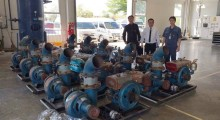 Die Pumpen sind angekommen und können bei Bedarf in Betrieb genommen werden.