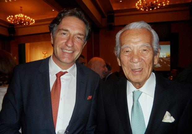 Österreichs Botschafter Enno Drofenik (links) und sein Schwiegervater Iwao Sekiguchi waren natürlich ebenfalls unter den Gästen.