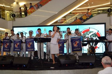 Auch die Thai Navy Band spielte super auf.