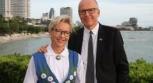 Botschafter Staffan Herrstrom mit Gattin Karin.