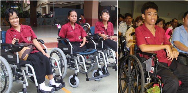 Das Leben ändert sich zum Guten für die Rollstuhlempfänger
