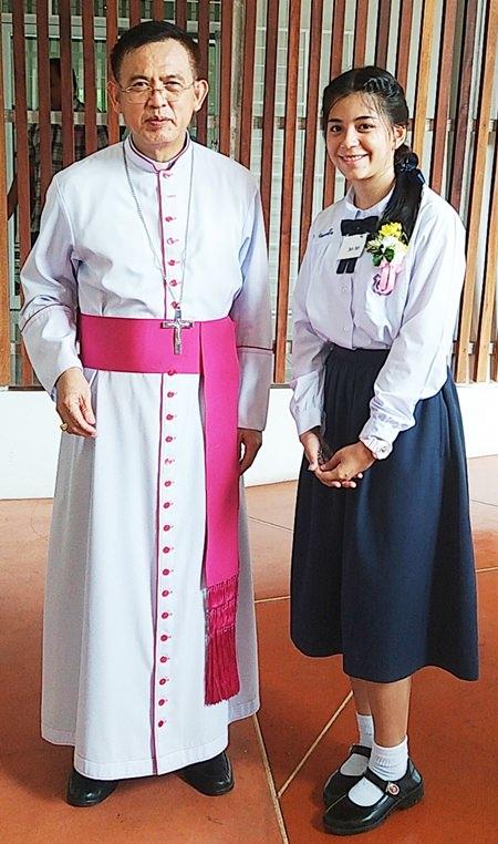 Rita mit Bischof Silvio.