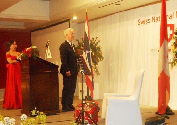 Danach wurde auch die Schweizer Nationalhymne gesungen.