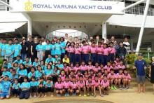 Die Lufthansa Group brachte über 100 Kinder der Human Help Network Foundation Thailand zu sportlicher Betätigung in den Royal Varuna Yacht Club.