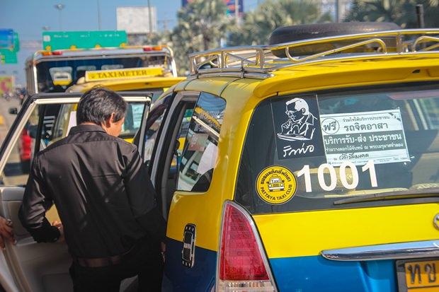 Fahrten mit Taxis und Motorradtaxis wurden den ganzen Tag kostenlos angeboten.