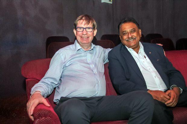 Seit langem sehr gute Freunde: Jan Olav Wilborn Aamlid und Peter Malhotra.
