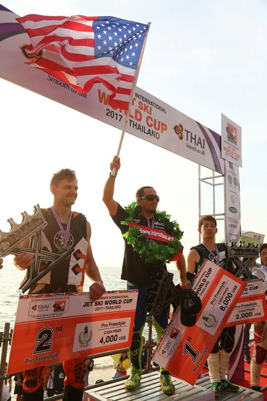 Die drei Sieger im Pro Freestyle.