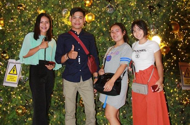 Besonders schön sind die Dekorationen im Central Marina Pattaya.