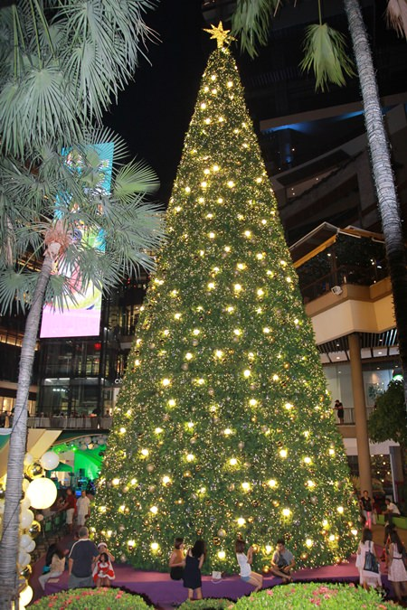 Das Central Festival Pattaya Beach und das Hilton Pattaya Hotel haben die Tiefparterre Aera wunderschön dekoriert. Viele Gäste waren dort vertreten, die sonmst nicht wussten wohin sie zum Feiern gehen sollten.