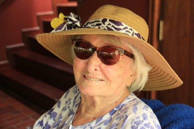 So sah Herta noch mit 104 Jahren (bei ihrem Geburtstag) aus.
