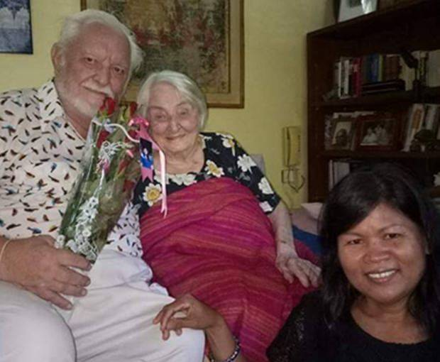 Ihr guter alter Freund Kurt Krieger und dessen Frau gratulieren zum 106. Geburtstag.