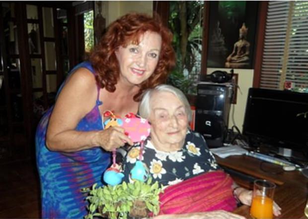 Ich durfte Herta auch zu ihrem letzten Geburtstag, dem 106. alles Gute wünschen.